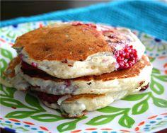 Rockin' Ricotta Raspberry Pancakes