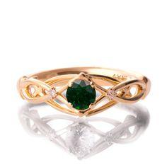 Verlobungsring Smaragd und von DoronMeravWeddings auf Etsy