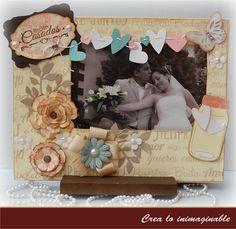 Un hermoso regalo para bodas, un portarretratos !!!