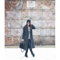 Easy winter style, monochromatic style