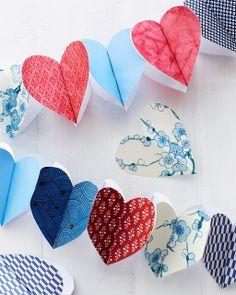 Sweet Paul: Lova's World: DIY Paper Heart Garland