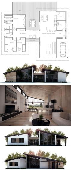 Modern house plans modern home plans architecture floor plans homeplans houseplans architecture interiordesign Layouts Casa, House Layouts, Building A Container Home, Container Homes, Container House Plans, Casas Containers, Architecture Plan, Container Architecture, Architecture Portfolio