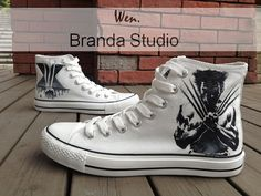 Wolverine X-Men,X Men,Studio Hand Painted Shoes51.99Usd,Paint On Custom Converse Shoes Only 91Usd,Buy One Get One Phone Case Free on Etsy, $59.59 AUD