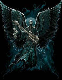 Skull angel, Playing guitar...