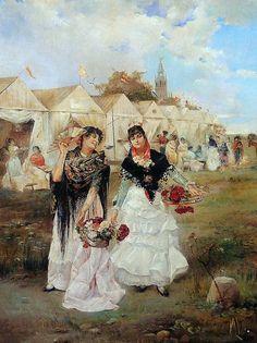 José Cañaveral Pérez (1833-1894). En la feria de Sevilla.