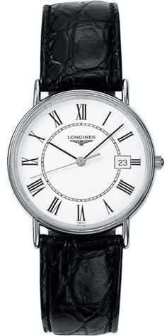 L4.720.4.11.2, L47204112, Longines presence leather strap watch, mens