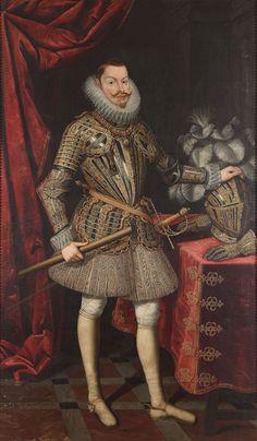 FELIPE III de Austria (1578 - 1621), Rey de las Españas, de Portugal y de las Indias / By B. González, ca.1610.