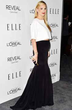 Chic Celebrity Maternity Style - Molly Sims, October 2014 from #InStyle