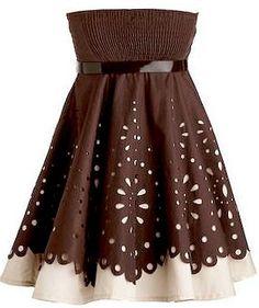 Laser Cut Truffle Dress | RYU Homecoming Prom Dresses | Rickety Rack