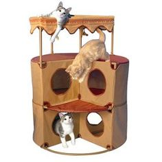 cat tree house or condo...like how could use this for corner  #cat condo  #cat corner
