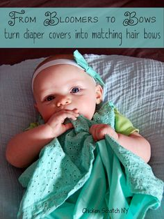 From Bloomers to Bows – Making Hair Bows from Diaper Covers