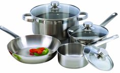 This Cookware Set Constructed in Stainless Steel would be a great addition to your home. Also, it has an Excelsteel 7 piece Stainless Ste. Le Creuset, Tapas, Kitchen Cookware Sets, Induction Cookware, Cast Iron Cookware, Cooking Utensils, Cooking Ware, Fun Cooking, Cooking Ideas