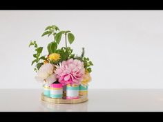 How to Make a Floral Herb Centerpiece {oh joy}