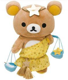 zodiac sign Libra Rilakkuma plush bear San-X