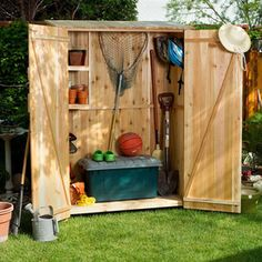 Shop All Things Cedar Garden Storage Unit - Cedar - x x at Lowe's Canada online store. Find Wood Storage Sheds at lowest price guarantee. Diy Storage Shed Plans, Wood Storage Sheds, Garden Storage Shed, Diy Shed, Garden Sheds, Storage Ideas, Firewood Storage, Small Storage, Tool Storage