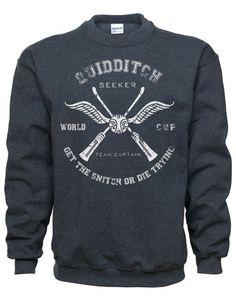 Hogwarts Quidditch Captain Sweatshirt, Harry Potter wizard inspired sweatshirt.