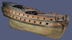 Antiquites de marine : maquette de vaisseau de l'ancien regime