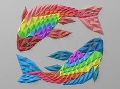 Znalezione obrazy dla zapytania origami mozaika