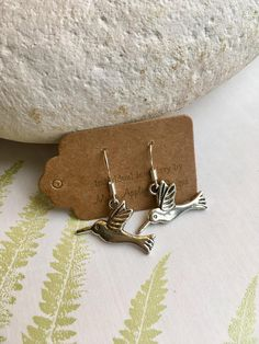 Silver Hummingbird Earrings , Gifts under a fiver UK by marieappleyarddesign on Etsy Bird Earrings, Dangly Earrings, Festival Chic, Arrow Necklace, Gifts For Her, Etsy Shop, Sterling Silver, Unique Jewelry, Handmade Gifts