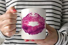 Lipstick Coffee Mugs Pretty Mug Cute Mugs Coffee Mugs от MixMugs