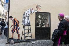 Kuva on otettu oikealla hetkellä. Sama kohde https://www.riemurasia.net/kuva/Roomalaista-katutaidetta/194508