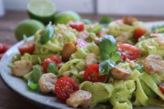 Eat: Creamy Avocado Fettuccine with Mushrooms and Pine Nuts