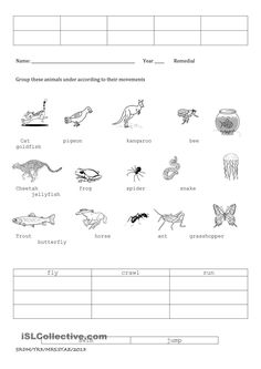 english worksheet how animals move animal homes pinterest worksheets animal movement and. Black Bedroom Furniture Sets. Home Design Ideas