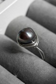 Pearl Ring Authentic Pearl Sterling Silver Ring Real Pearl by FAGR