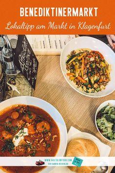 #Restauranttipp für das #Mittagessen in #Klagenfurt. Indoor-Streetfood in den gemütlichen Beisln am #Benediktinermarkt in Klagenfurt. In diesem Beitrag erfährst du, wo es die beste Hausmannskost im gemütlichen Ambiente in Klagenfurt gibt.