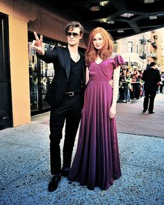 """""""You don't want to be photographed next to Matt and Karen. Have you seen them? It's like the two most beautiful people in the world"""" - Steven Moffat"""