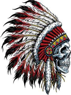 indian skull Art Print