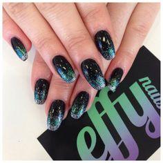 Gorgeous #nails by Effy Nails on Twitter #nailart #glitter #iridescentglitter #lovelecente