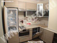 Дизайн кухни с вентиляционным коробом на заказ - фото, угловая кухня с коробом…