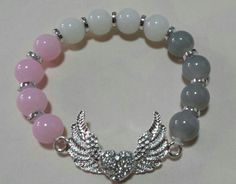 Wings in pastel glass beads