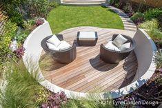 Medium-sized back garden design in Wandsworth, 6