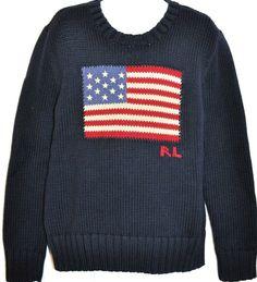 Polo Ralph Lauren Hoodie Boy M 10-12 L 14-16 XL 18-20 Flag NWT Black