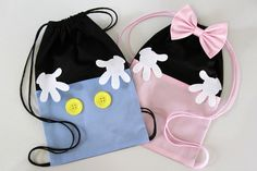 Fabric Crafts, Sewing Crafts, Pochette Diy, Minnie Baby, Owl Bags, Diy Backpack, Creation Couture, Kits For Kids, Denim Bag