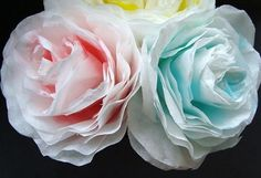 how to make paper roses from coffee filters