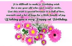 It Is Difficult To Make A Birthday Wish For One Year Old Who Cant Read Or Write
