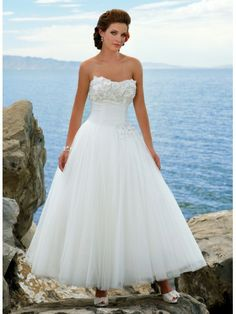 A-ligne robe de mariée en dentelle