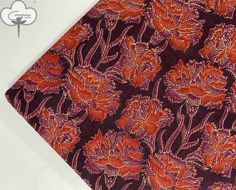 Floral Print Fabric, Floral Prints, Happy Emotions, Dabu Print, Indian Fabric, Brown And Grey, Printed Cotton, Soft Fabrics