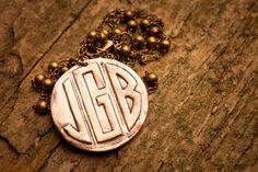 Bronze Monogram Necklace