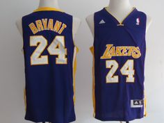 49d696870cd US  20.99   Piece NBA Los Angeles Lakers BRYANT  24 Men s Adidas Jerseys  Dark Blue