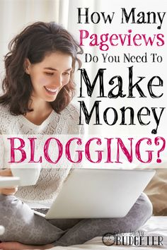 How Many Pageviews Do You Need to Make Money Blogging? WHERE HAS THIS BEEN ALL OF MY LIFE?!?!?!?!!? I've spent hours searching on google trying to figure out how much money I should be making on my blogger blog... I suspected I should be making a lot with 100,000 pageviews and now I know I'm right! This is insanely helpful!