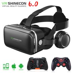 VR shinecon 6,0 3d-brille box google karton virtual reality brille VR headset für 4,5-6,0 zoll ios Android smartphone