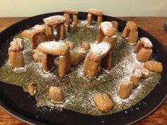 Winter solstice gingerbread Stonehenge - Turquoise Lemons