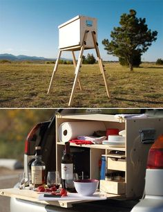 Trunk Kitchen/Bar | 32 Things You'll Totally Need When You Go Camping