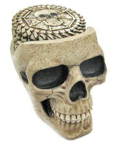 Skull Coaster Set 6 Coasters Collectible Skeleton Gothic Decoration