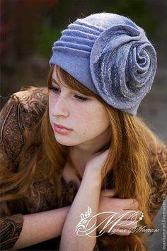 """Купить Шляпка """"Бесконечность"""" - серый, орнамент, шляпка, шляпка из шерсти, шапка, 100 шерсть"""