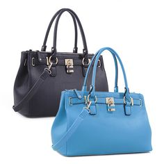 3d6bed379427 Indulge your trendy side with this chic vegan leather satchel and wallet  set from Deluxity.